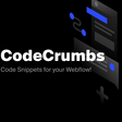 CodeCrumbs - Code Snippets for Your Webflow!