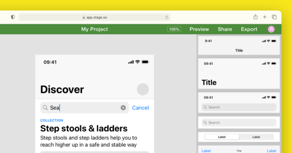 Stage — The tool for creating app wireframes and designs
