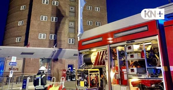 Feuer im Rundsilo Eckernförde: Großeinsatz wegen Kaffeeröster-Brand