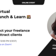 Welcome! You are invited to join a meeting: Virtual Lunch & Learn: How to perfect your freelance profile and attract clients | 27th April