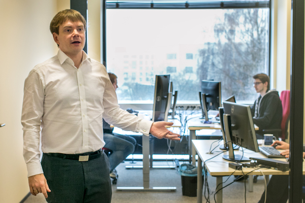 Dan Bogdanov, 38, heads the Information Security Research Institute at Cybernetica AS in Tallinn, Estonia, and is the co-inventor of Sharemind, a data analysis system for securely processing confidential information. Photo: Anni Õnneleid/Ekspress Meedia.