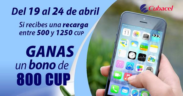 Nueva promoción Cubacel del 19 al 24 de abril de 2021