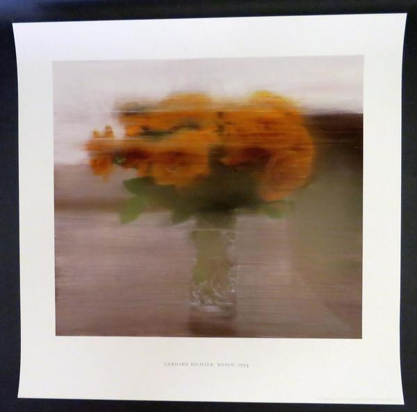 Gerhard Richter. Roses, oil on canvas, 1994.
