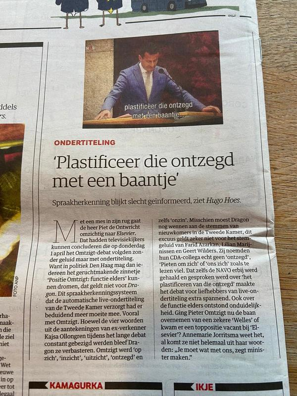 Transcription doesn't work well and why I am working www.spraakcoalitie.nl