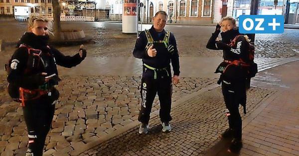 Mega-Marsch in Wismar: Engelsläuferinnen gehen 121 Kilometer für guten Zweck