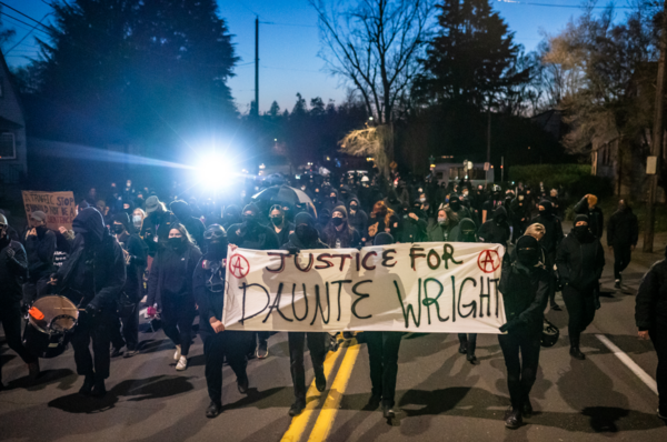 Protests, such as this one on April 12 in Portland, Oregon, have been held across the country since the police shooting death of Daunte Wright. | Getty Images