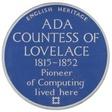 Ada Lovelace's blue plaque