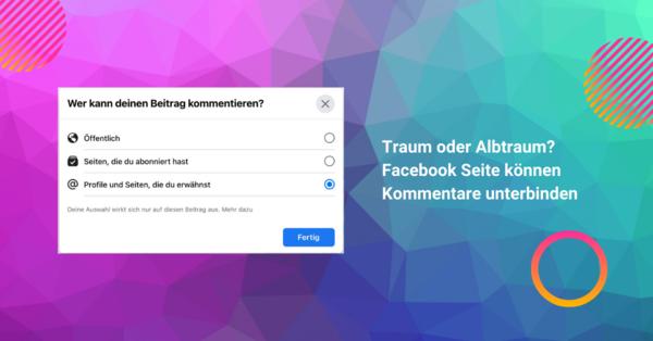 Kommentare auf Facebook Seiten verbieten - allfacebook.de