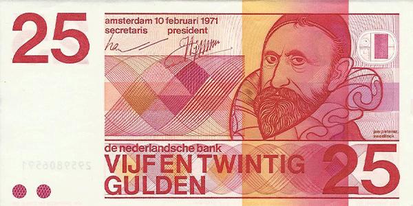 Sweelinck op het oude 25 guldenbiljet