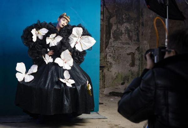 Art-Fotoshooting in Beelitz-Heilstätten. Foto: ProSieben/Richard Hübner