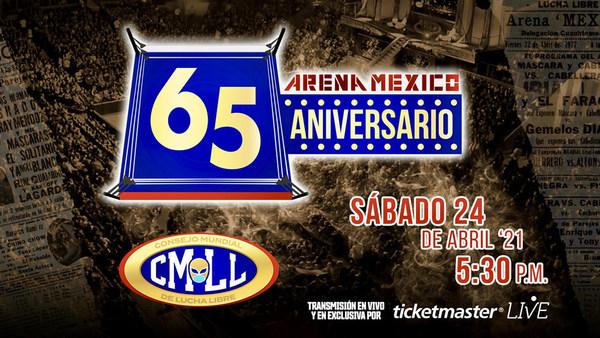 CMLL anuncia su cartel del 65 aniversario de la Arena México