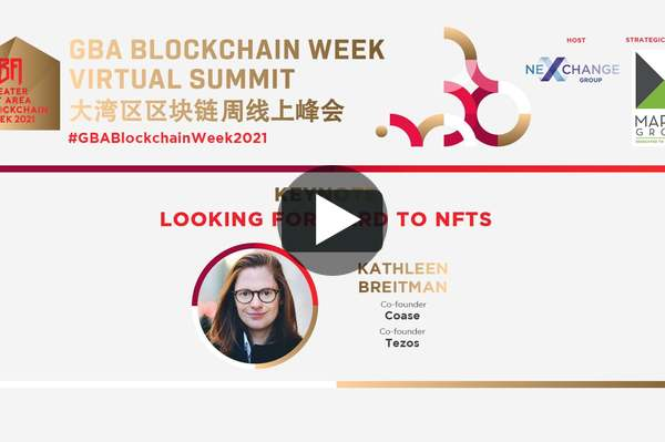 GBABCW2021 - Day 1 - Keynote: Looking forward to NFTs