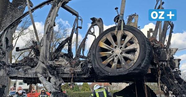 Feuer-Drama: Bekannter Hotelier aus MV stirbt in ausgebranntem Tesla