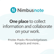 Nimbus Note - One place to manage all your information | knowledge base | tasks | projects | etc