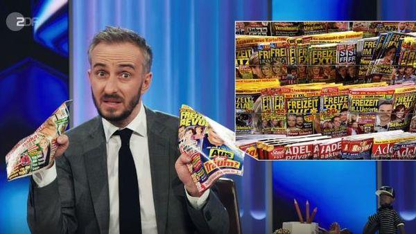 Dreiste Lügen über Hubert Burda! Wie Jan Böhmermann am Kiosk die Klatschpresse foppt