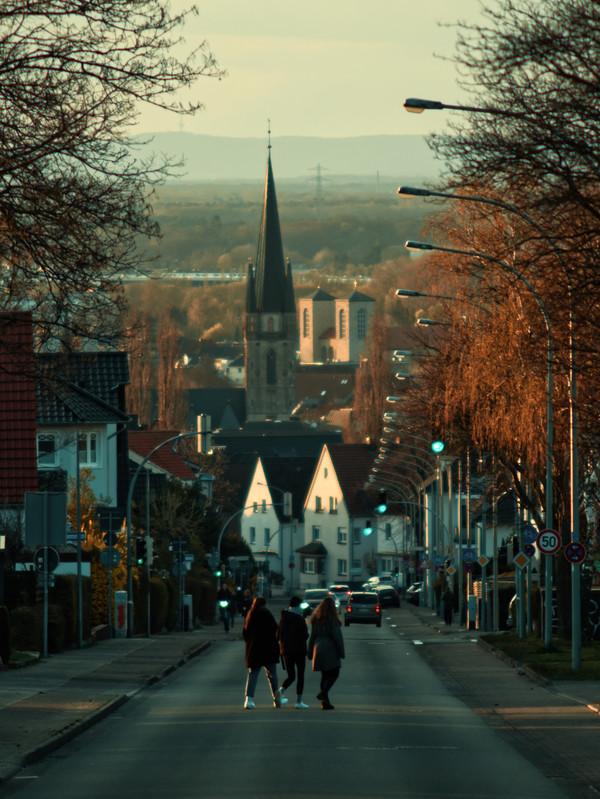 Blick hinab in die Paderborner Innenstadt.