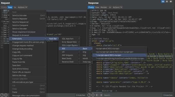 HackBar extension