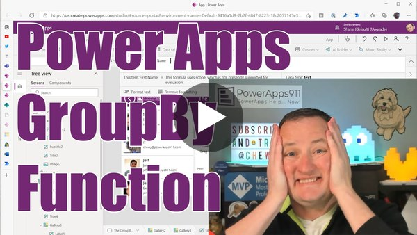 PowerApps GroupBy function and Nested Galleries