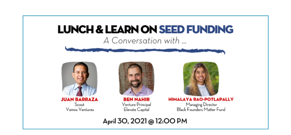 TiE Oregon Lunch & Learn: A Conversation on Seed Equity Funding on April 30th