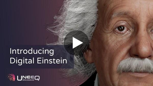 Introducing Digital Einstein | A UneeQ AI companion