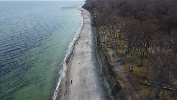 Der Strand in Nienhagen aus der Vogelperspektive (Foto: Florian Parlow)