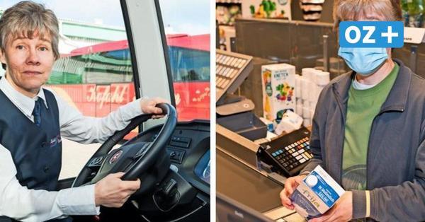 Vom Bus-Cockpit in den Supermarkt: Sassnitzerin überbrückt Corona-Pause