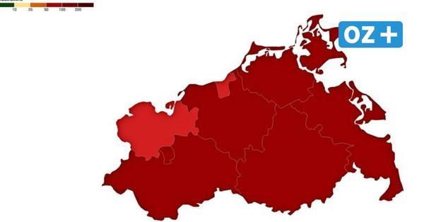 Corona-Inzidenz in MV am 19.4.2021: Überblick über Städte und Landkreise