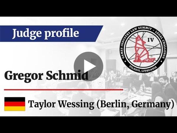 LC IV Judge profile – Gregor Schmid, Taylor Wessing (DE)