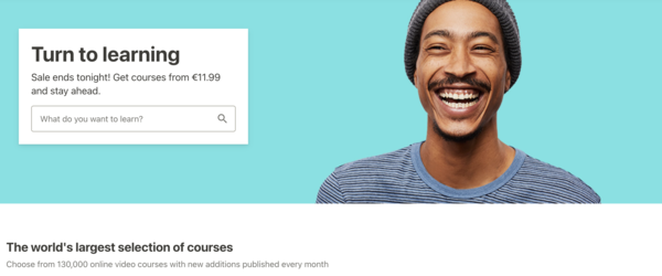 Udemy: the Amazon of online learning (cheap, big selection, but impersonal)