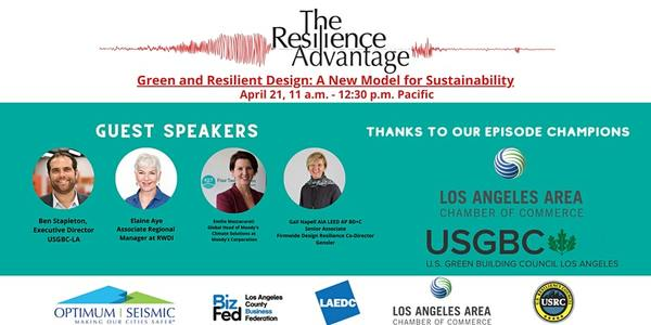 Green and Resilient Design: A New Model for Sustainability | 11:00 AM