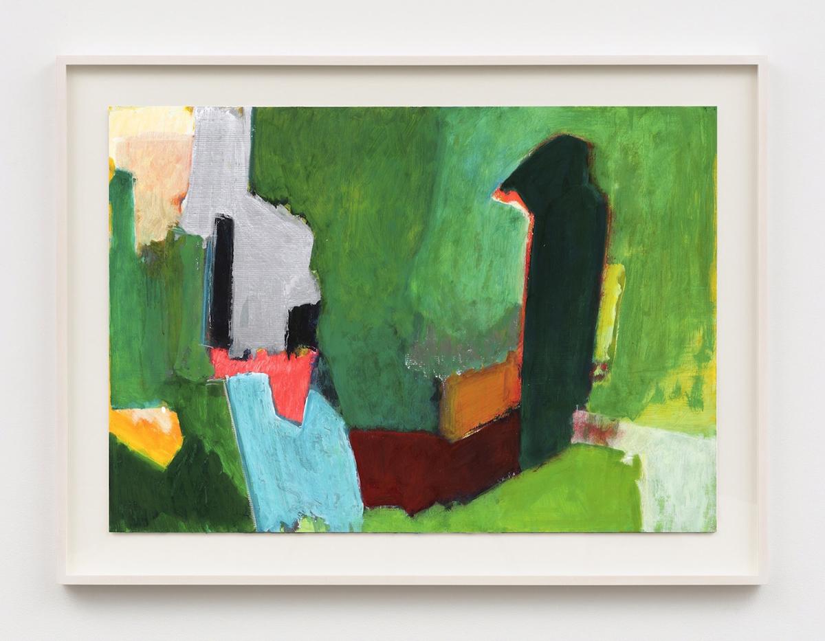 "Ilse D 'Hollander,""无题""(1990/1991),纸板上的混合媒体(©Ilse D 'Hollander Estate, Sean Kelly courtesy, New York)"