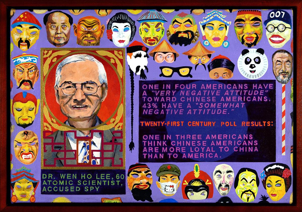 本·Sakoguchi,《唐人街》(2014)(面板细节)(照片由Jan Sakoguchi提供,图片由艺术家和Bel Ami提供,洛杉矶)