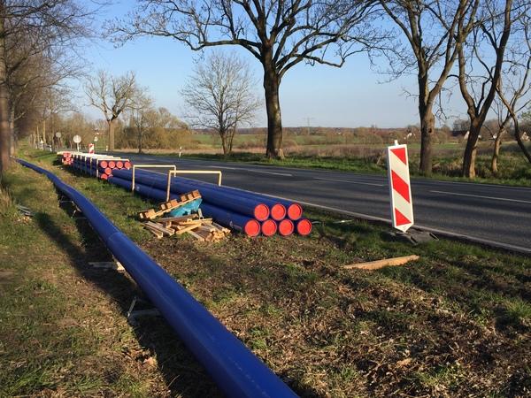 Bauarbeiten in Bargeshagen (Foto: Anja Levien)