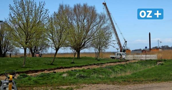 Was dieser Kran im Ribnitzer See macht