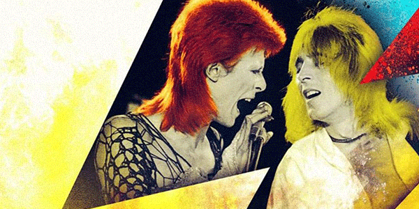 David Bowie en Mick Ronson (bron: Beside Bowie: The Mick Ronson Story)