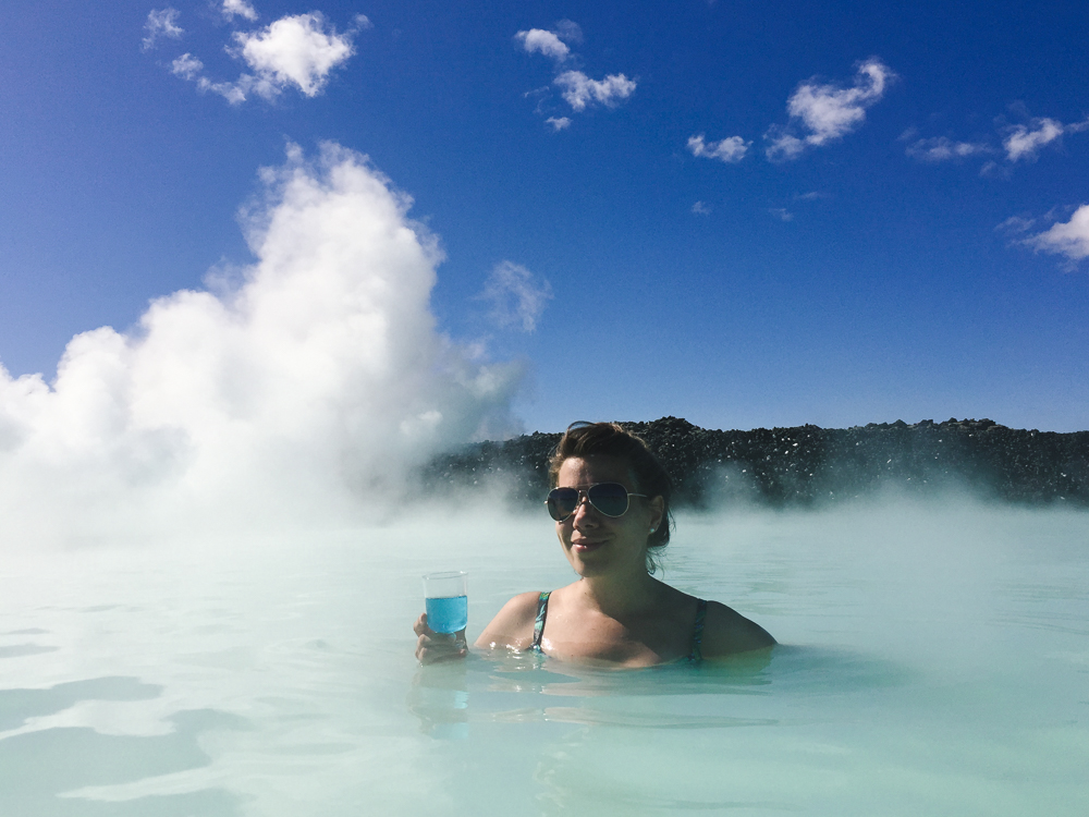 the one time I was a real cliché tourist, at the Blue Lagoon