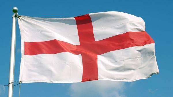 Bandera de Inglaterra ondeando