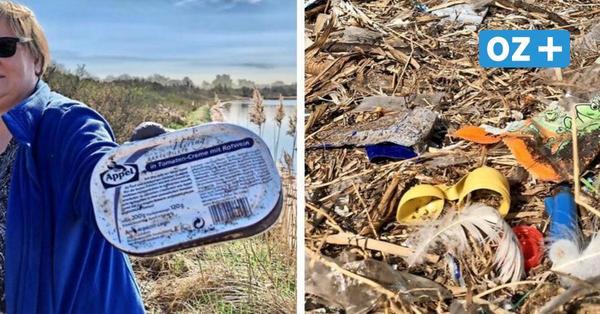 Trauriges Video zeigt Naturstrand von Pötenitzer Wiek: Plastik zwischen Schwanenfedern