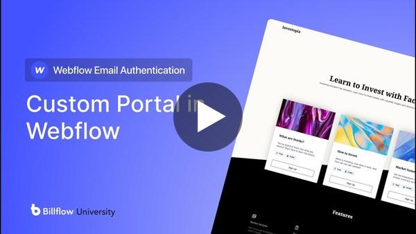 Stripe Embedded Custom Portal In Webflow