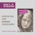 May 4: Author Talk with Barbara Goldowsky
