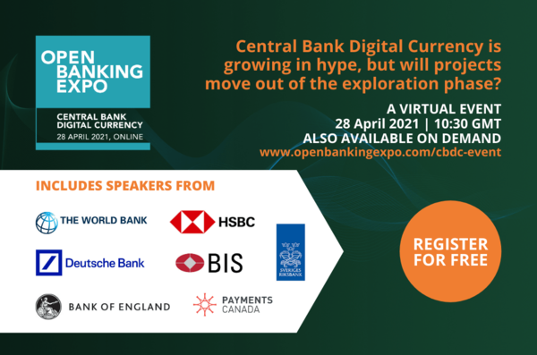 Events - Open Banking Expo: Central Bank Digital Currencies - 28th April