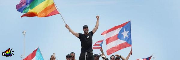 Ricky Martin durante protesta contra el gobernador de Puerto Rico (julio 2019)
