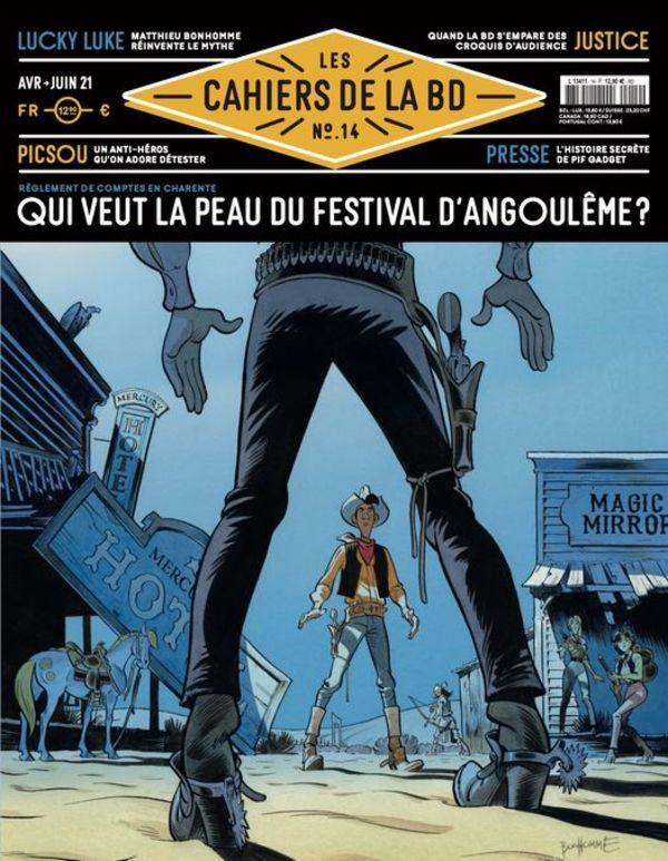 """Couverture de """"Les Cahiers de la bande dessinée"""" avril-juin 2021"""