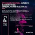 Optimización tributaria en tiempos de Incertidumbre (Personal Finance Management)