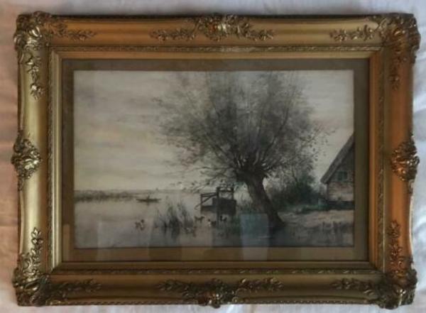 ≥ Jan van Rhijnnen aquarel - Kunst | Schilderijen | Klassiek - Marktplaats.nl