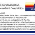 The Point Loma & OB Democratic Club Micro Grant Competition