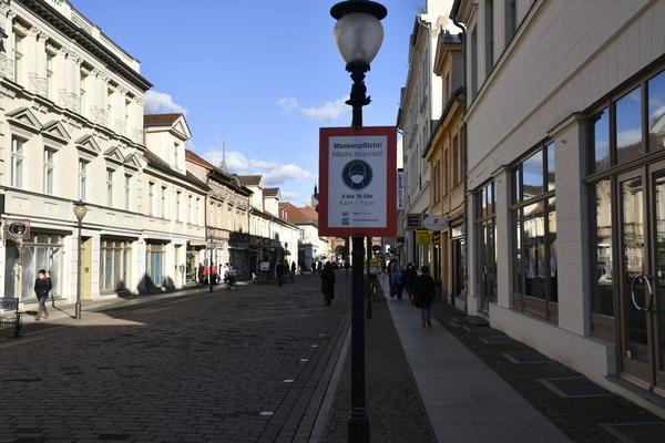 """Das """"Click & Meet""""-Konzept wird in Potsdams Innenstadt nur mäßig angenommen. Foto: Ulrich Hansbuer"""