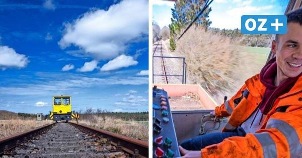 27-Jähriger pflegt stillgelegte Bahnstrecke zwischen Karow und Wismar mit altem Bauzug