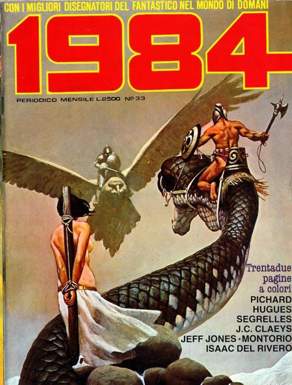 """Mensuel d'heroïc-fantasy italien """"1984"""""""