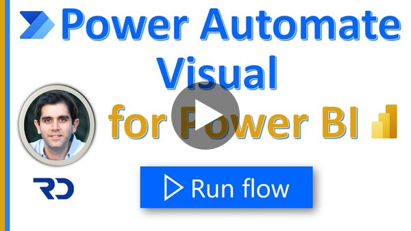 Power Automate visual for Power BI reports - run flow